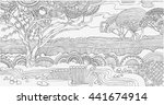 beautiful african landscape ... | Shutterstock .eps vector #441674914