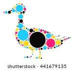 duck shape vector design by...