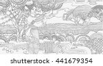 coloring pages. beautiful... | Shutterstock .eps vector #441679354