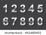 vector metal numbers.set of... | Shutterstock .eps vector #441680401