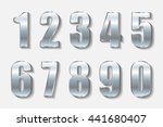 vector metal numbers.set of... | Shutterstock .eps vector #441680407