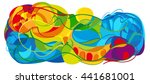 rio. summer games 2016 abstract ... | Shutterstock . vector #441681001