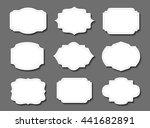 vintage label.decorative frame... | Shutterstock .eps vector #441682891