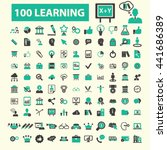 learning icons | Shutterstock .eps vector #441686389