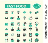 fast food icons | Shutterstock .eps vector #441687769
