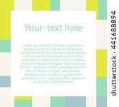 abstract  modern frame. vector... | Shutterstock .eps vector #441688894