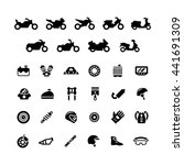 set icons of motorcycle | Shutterstock .eps vector #441691309