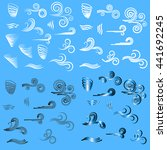wind icons nature  wave flowing ... | Shutterstock .eps vector #441692245