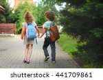 young students  boy and girl ... | Shutterstock . vector #441709861