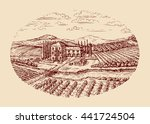 italy. italian rural landscape. ... | Shutterstock .eps vector #441724504