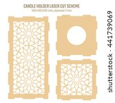 diy laser cutting vector scheme ... | Shutterstock .eps vector #441739069