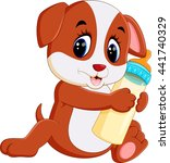 cute dog cartoon | Shutterstock .eps vector #441740329