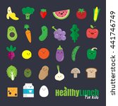 set of flat design icons for... | Shutterstock .eps vector #441746749