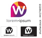 generic w letter logo concept... | Shutterstock .eps vector #441748555