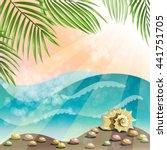 summer holidays illustration ... | Shutterstock . vector #441751705