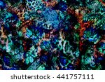 texture of print fabric striped ... | Shutterstock . vector #441757111