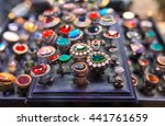 beautiful jewelry on the street ... | Shutterstock . vector #441761659