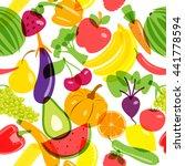 seamless background vegetarian... | Shutterstock .eps vector #441778594