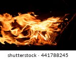 fire flowing through the air on ... | Shutterstock . vector #441788245