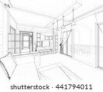 house building sketch  3d... | Shutterstock . vector #441794011