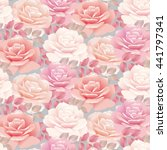 pale color rose template... | Shutterstock . vector #441797341