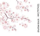 white tree blossom design...   Shutterstock . vector #441797431