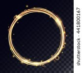 vector magic circle with light... | Shutterstock .eps vector #441800167
