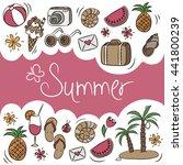 summer vacation vector elements ... | Shutterstock .eps vector #441800239