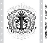 anchor cross with two cannons... | Shutterstock .eps vector #441804739