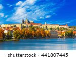 prague castle and old city day... | Shutterstock . vector #441807445