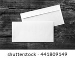 blank white paper envelopes.... | Shutterstock . vector #441809149