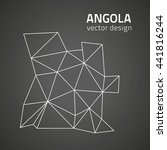 angola contour black vector map | Shutterstock .eps vector #441816244