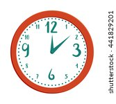 wall clock icon in cartoon... | Shutterstock .eps vector #441829201
