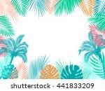 vector tropical jungle...   Shutterstock .eps vector #441833209