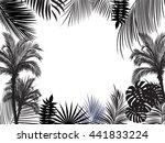 vector tropical jungle... | Shutterstock .eps vector #441833224