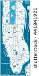 manhattan road map and... | Shutterstock .eps vector #441841921