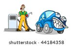man with car in the gas station | Shutterstock .eps vector #44184358