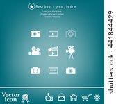 camera icons. vector...   Shutterstock .eps vector #441844429