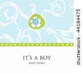 baby boy arrival card | Shutterstock .eps vector #44184475