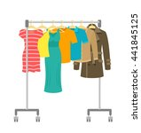 hanger rack with male and... | Shutterstock .eps vector #441845125