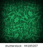 textile background with floral ornament - stock photo