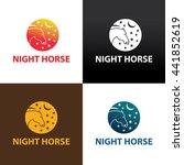 night horse logo design... | Shutterstock .eps vector #441852619