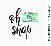 oh snap photo booth vintage old ... | Shutterstock .eps vector #441852709