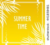 summer tropical print with palm ... | Shutterstock .eps vector #441858481