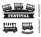 food truck festival emblems and ...   Shutterstock .eps vector #441860317