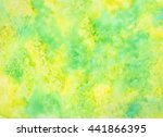 bright green yellow watercolor... | Shutterstock . vector #441866395