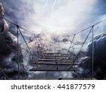 3d rendering unstable bridge... | Shutterstock . vector #441877579