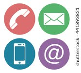 contact us communication icons | Shutterstock .eps vector #441893821
