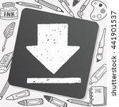 doodle download   Shutterstock .eps vector #441901537