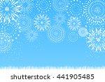 fireworks and grassland | Shutterstock .eps vector #441905485
